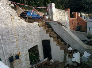 Damage to the wall