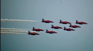 The Red Arrows can be seen on Saturday