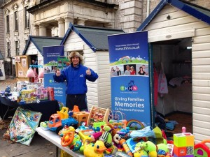 Volunteers helped us run a stall at the Christmas Beach Huts