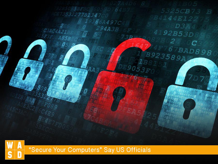 Security concept: Lock on digital screen