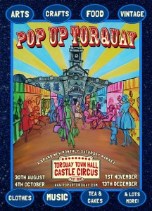New monthly Saturday Market, held in Torquay Town hall.
