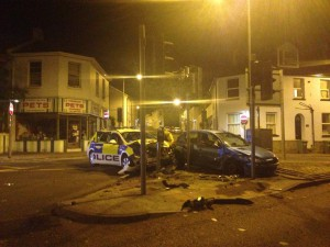 Police car crash Torquay