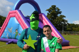 Jake with Green Star Man