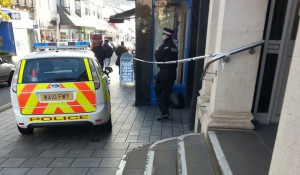 Police at the scene this morning.