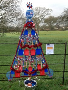 The Christmas Tree entry at A La Ronde designed by shop volunteers  Photo Credit: Exmouth RNLI