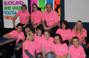 The team at Buckland and Milber youth group