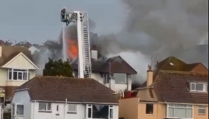 Fire crews are tackling the blaze