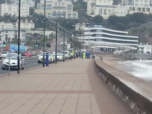 The area was cordoned off by the police