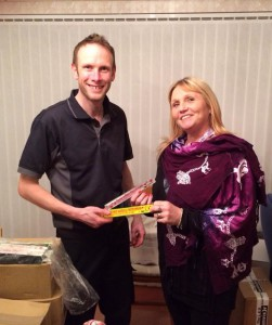 Simon Jeffery of Safe Response with Jackie Brealy, founder of P-A-U-L-Y