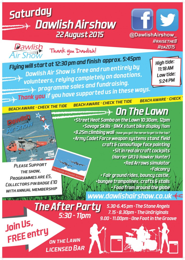 Flyer from this years air show