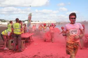 Adding some colour to Paignton beach