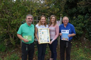 From left to right: Steve Probert, Whitehill Country Park Maintenance & Grounds Assistant, Claire Jeavons, Beverley Holidays Marketing Director, Katy Lamsin, Whitehill Country Park Director, and Ed Weller, Beverley Holidays Green Leader.