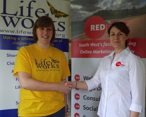 Laura Bambrey, Communications Officer and Community Fundraiser, Lifeworks and Lydia Lucas, Director, Redpost Media