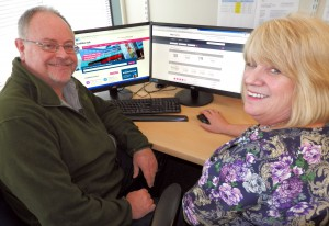 Healthwatch Torbay Chair Dr. Kevin Dixon and   CEO Pat Harris