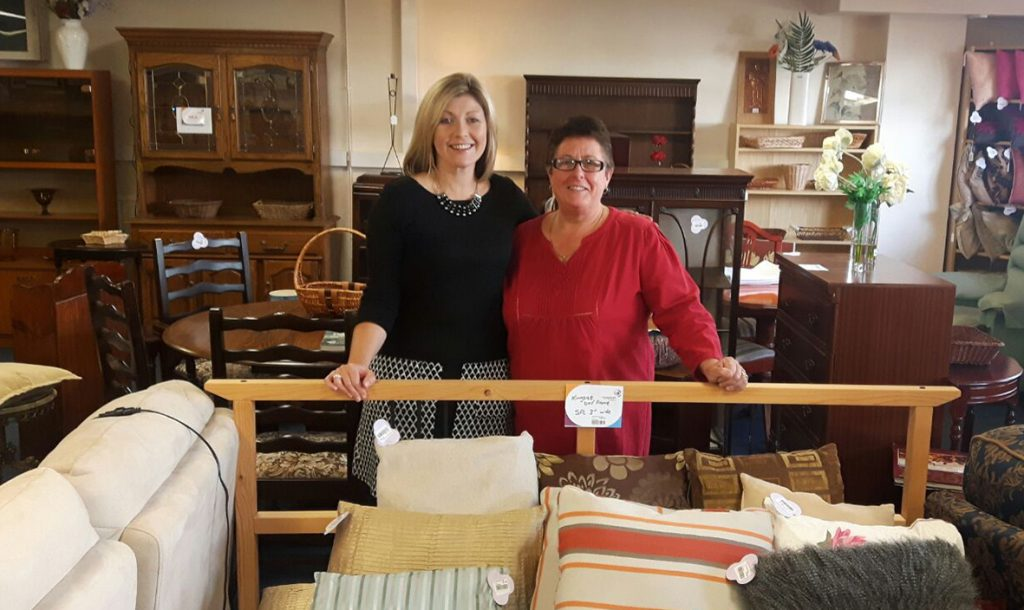 Head of Retail, Caroline Wannell (left) with the Manager of our new Paignton Furniture and Clearance Outlet, Mandy Langdon (right).