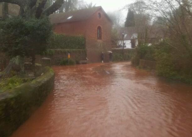 Cockington flooding