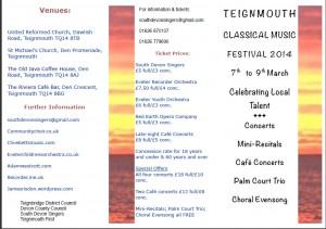 Teignmouth music festival 2014