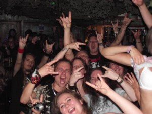 Fans at a Demon's Of Old Metal gig