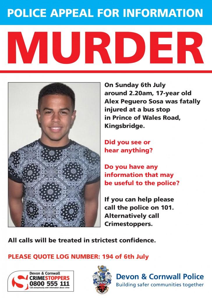 Police Appeal Alex Peguero Sosa Murder
