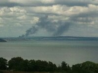 Smoke could be seen from Torbay
