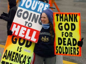 WBC are well known for picketing soldiers funerals