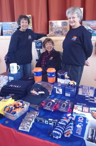 The Outside Events team at Budleigh Coffee Morning: Linda, Rosemary and Pat. Photo Credit: Exmouth RNLI