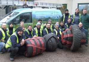 The team get to work Photo Credit: Paignton Zoo