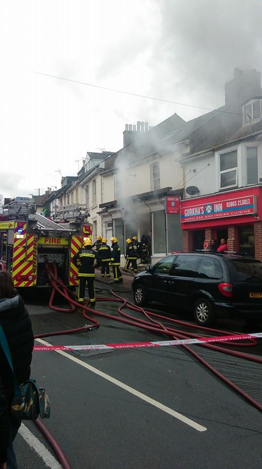 Fire Crews at the scene. Photo: Andy Evans.