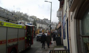 Fire crews at the scene