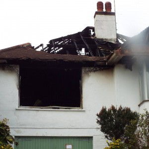 Elsie's home was severely damaged in the blaze