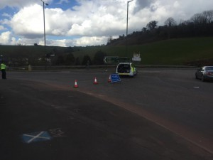 Newton Road was closed by Police