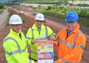 Image (L-R): Richard Hayman, Finance Director Linden Homes, Giles Charnaud, Chief Executive Rowcroft Hospice and Chris Hastings, Project Director SDLR Galliford Try.
