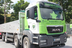 """It's a heavy load 6920 Bright Green Stars so we persuaded a local company to help out"" Green Star Man"