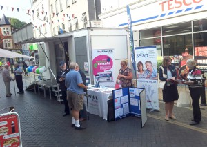 Healthwatch Torbay visit Paignton town centre last year.