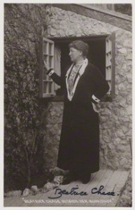 NPG x25222; 'Beatrice Chase outside her bookshop' published by Chapman & Son