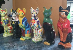 Some of the English Riviera Cats Trail Cats shortly after being fired at China Blue in Totnes