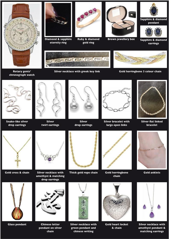 Jewellery stolen