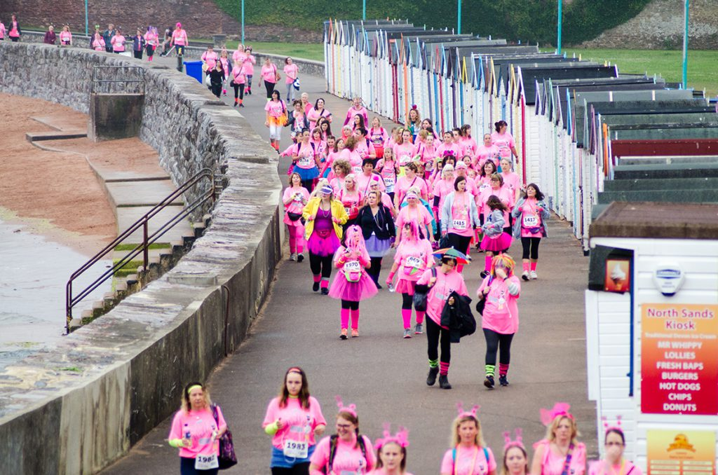 More than 1800 ladies took on wet and windy weather conditions for Rowcroft Hospice