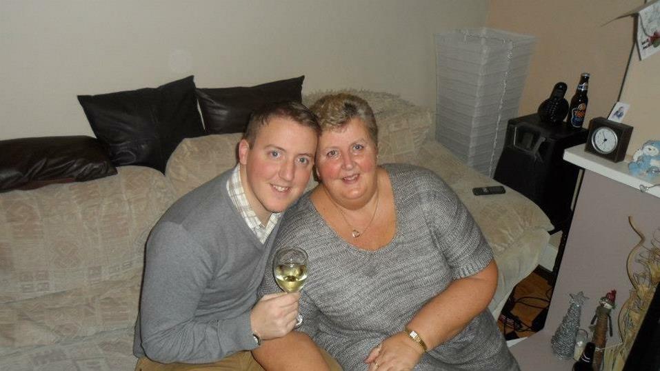 Stewart with his mum
