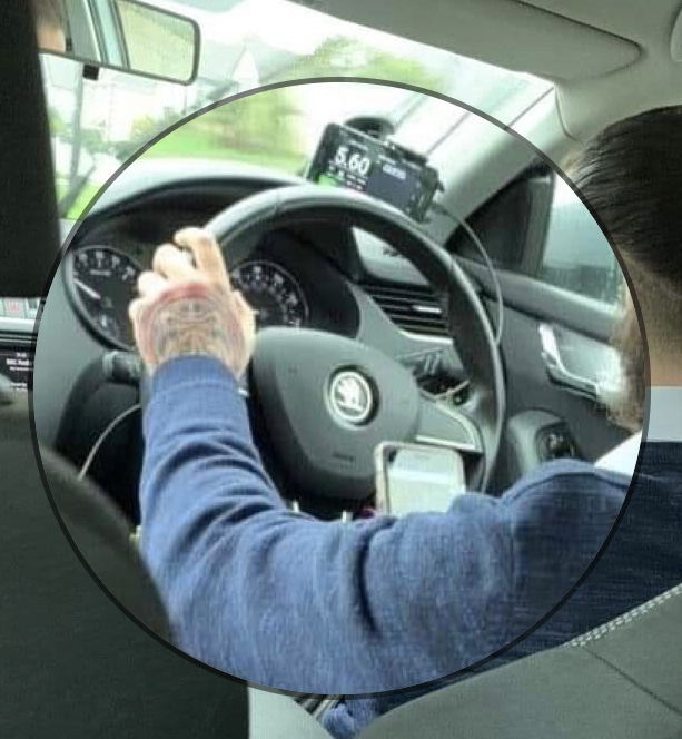 Phone being used whilst driving